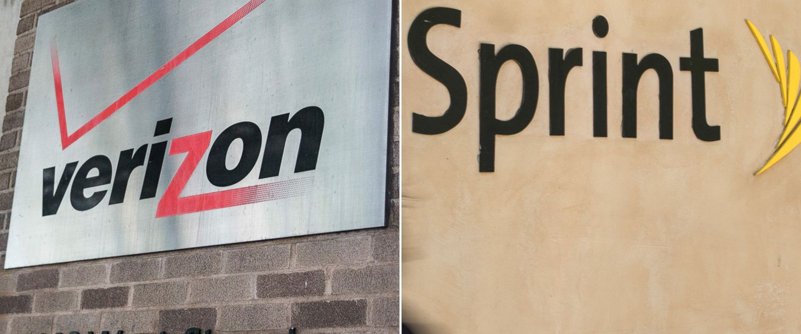 PHOTO: Verizon and Sprint logos are seen here in this undated file photo.