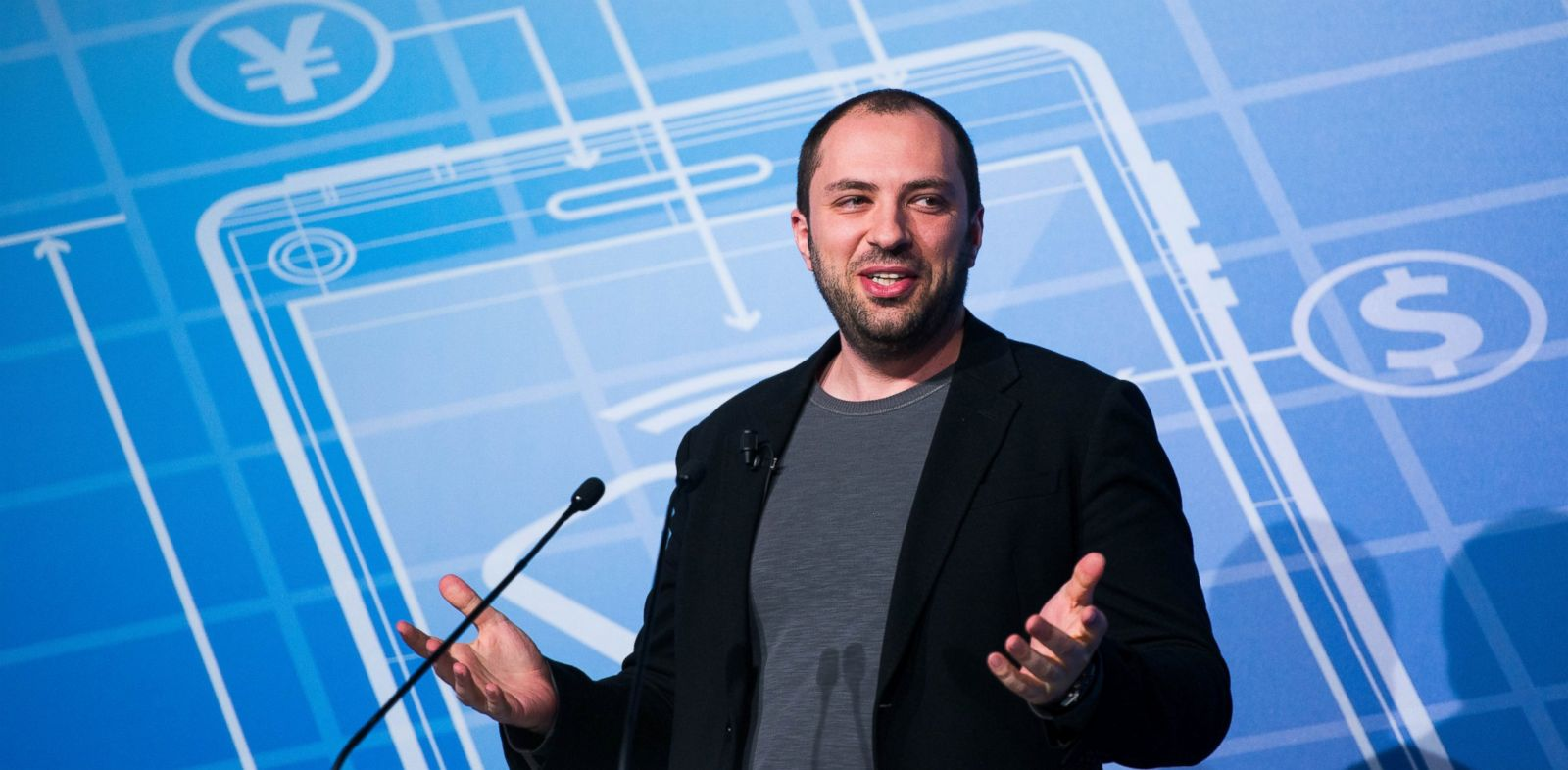 PHOTO: Whatsapp CEO Jan Koum during a Keynote conference as part of the first day of the Mobile World Congress 2014 at the Fira Gran Via complex on Feb. 24, 2014 in Barcelona, Spain.
