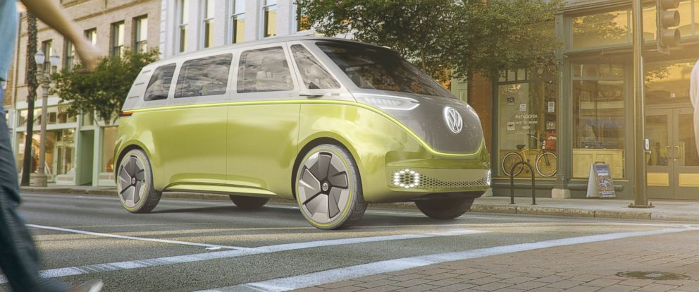 PHOTO: Volkswagen released this rendering of their I.D. Buzz concept vehicle on Jan. 8, 2017.