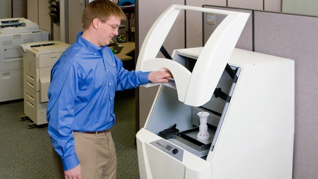 PHOTO: This photo provided by the Z corporation shows the ZPrinter® 15.