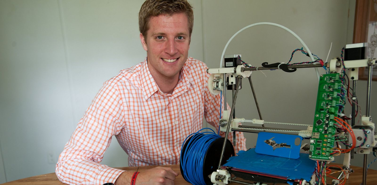 PHOTO: Ben Wittbrodt has used a 3D printer to print iPhone cases and shower head.