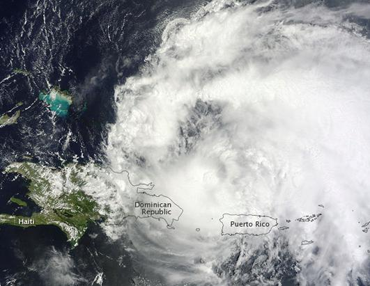 Hurricane Irene Heading Toward the US