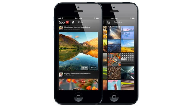 PHOTO: 500px's iPad and iPhone app allows you to share and look at photos.