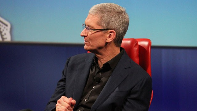 PHOTO: Apple CEO Tim Cook speaks at the 2013 All Things D conference.