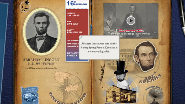 PHOTO: Disney's American Presidents App provides an interactive way to learn about all 44 Presidents.