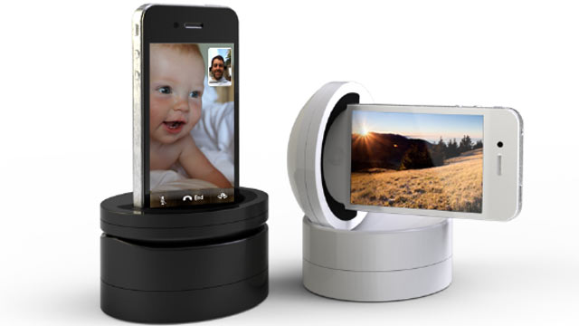 PHOTO: The Galileo iPhone dock is rotatable.