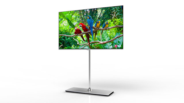 PHOTO: LG's 55-inch will be the first OLED TV to hit the market.