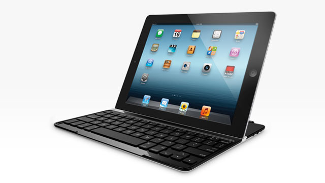 PHOTO: Logitech's improved ultrathin keyboard for the iPad is thinner and lighter.