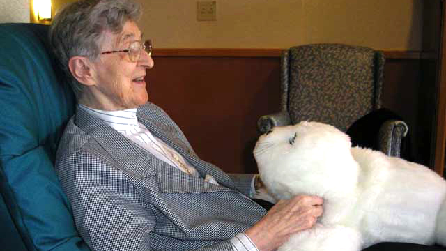 PHOTO: Paro, robotic baby seal, is designed to give comfort and companionship to older adults.
