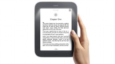 PHOTO: Barnes & Noble's new Nook Simple Touch with GlowLight has a built-in book light.