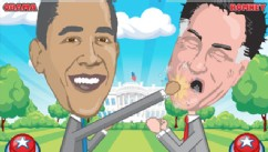 PHOTO: In this iOS and Android game you help the 2012 presidential candidates duke it out in the ring.