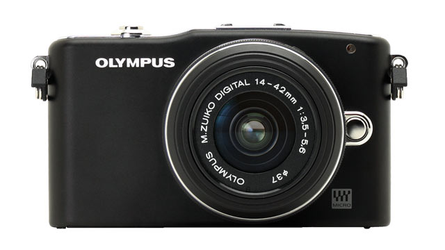 PHOTO: Olympus Pen Mini E-PM1 is shown.