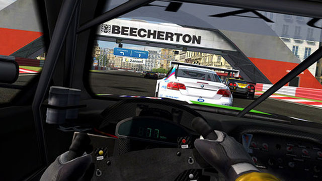 PHOTO: Real Racing 3D brings stunning graphics to the new iPad.