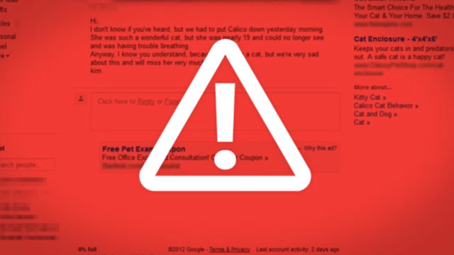 "PHOTO: Microsoft attacks Gmails ad policy in its ""Scroogled"" campaign."