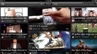 PHOTO: ShowYou's iPad app brings in videos from social networks.