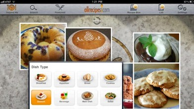 PHOTO: All Recipes is a free cooking app for the iPad.
