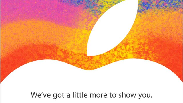 PHOTO: An invite to Apple's Oct. 23rd event, where it is expected to announce the iPad Mini.
