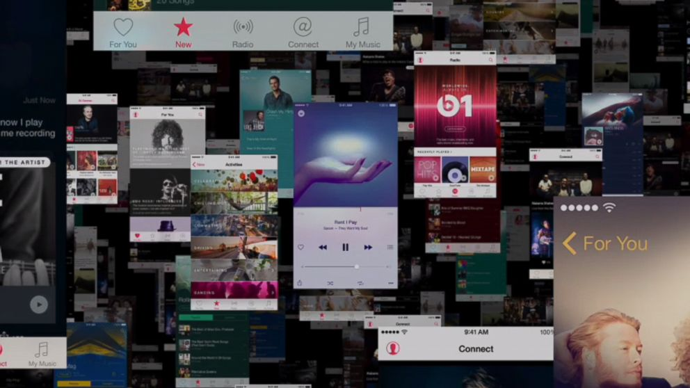 PHOTO: Apple Music launches on June 30, 2015.