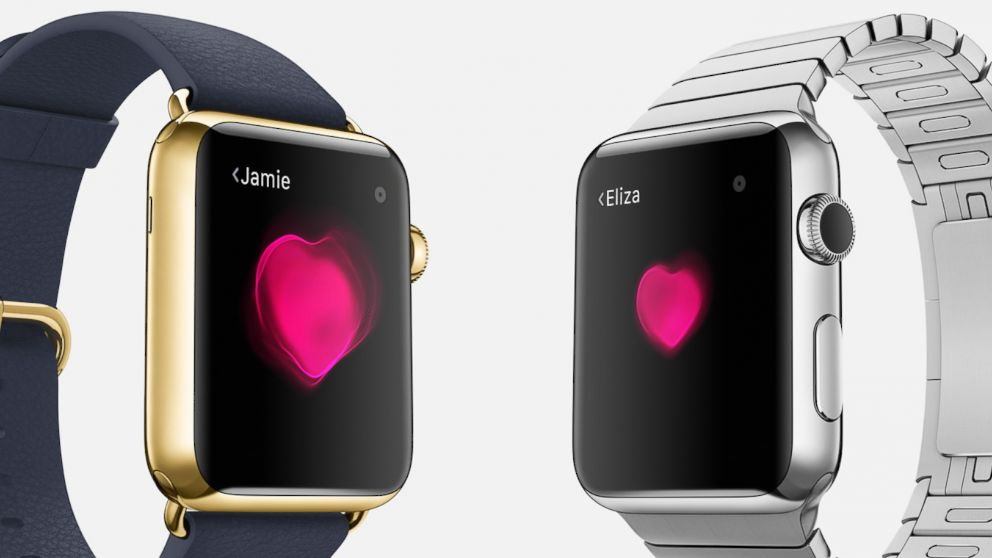 PHOTO: The Apple Watch allows you to share an animated representation of your heartbeat with other Apple Watch users.
