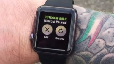 PHOTO: An Apple Watch is pictured in this still uploaded to YouTube.