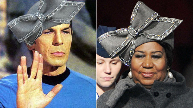 PHOTO: Aretha Franklins 2009 inauguration hat has gone viral inspiring memes.