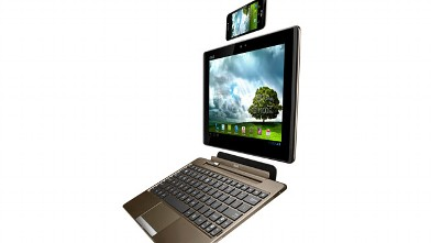 PHOTO: Asus' Padfone transforms from phone to tablet to laptop.