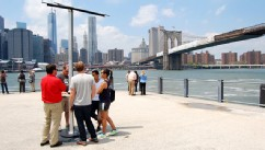 PHOTO: AT&T has set up free solar mobile charging across New York City's five boroughs.