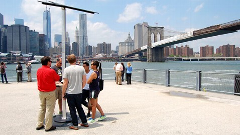 ht att street charge jef 130618 wblog After Sandy, AT&T Builds Solar Phone Charging Stations Across NYC