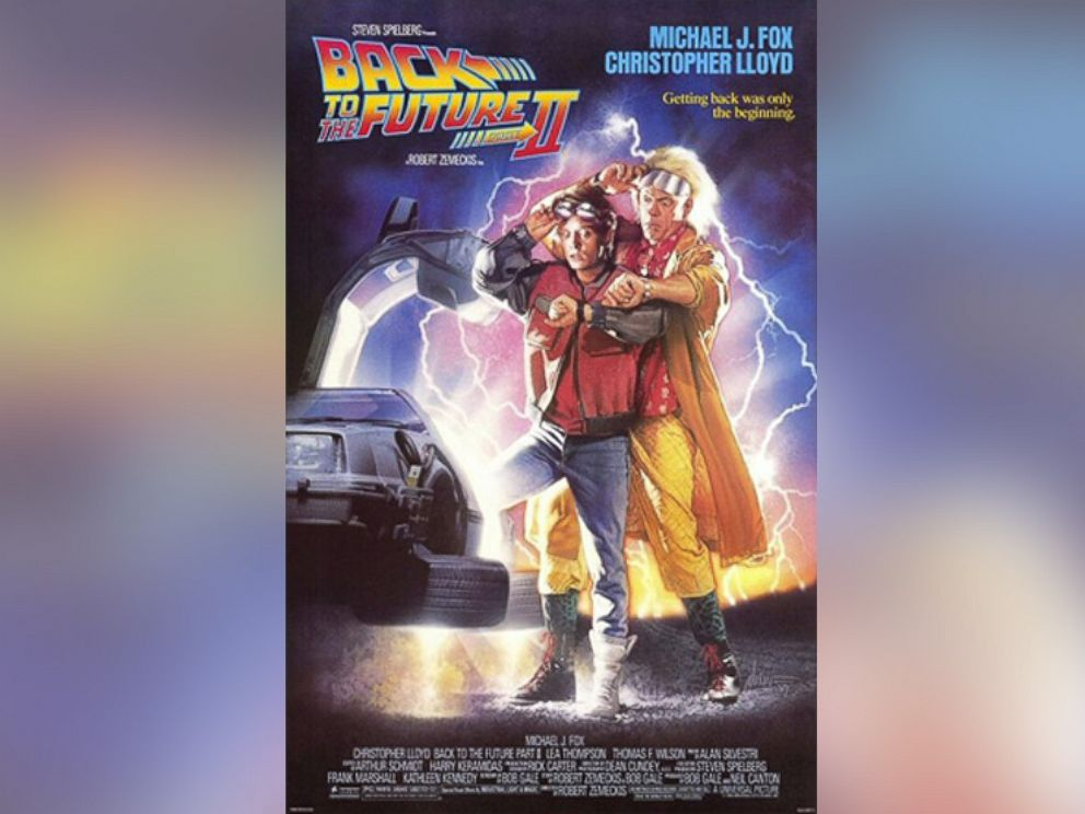PHOTO: The promotional poster for Back to the Future II is pictured.