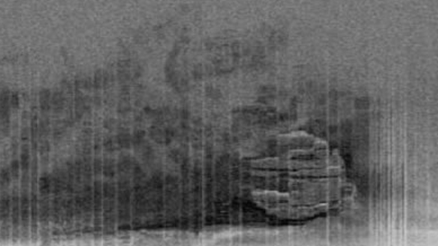 PHOTO: Seen here is a sonar image of an unidentified object on the floor of the Baltic Sea between Sweden and Finland.