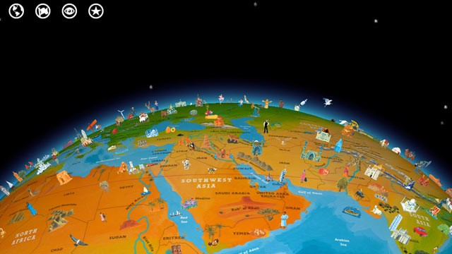 PHOTO: Barefoot World Atlas is an interactive globe and map app for the iPad and iPhone.