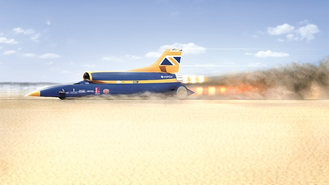 PHOTO: Bloodhound supersonic car