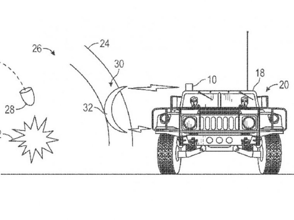 PHOTO: An illustration from Boeings patent, Method and system for shockwave attenuation via electromagnetic arc.