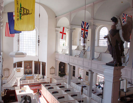 The Tombs of Boston's Old North Church