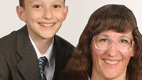 PHOTO Fourteen-year old Robert Nay, left, and his mother Kari Nay are shown in this picture. Robert's game Bubble Ball is the #1 free game in Apple's App store.