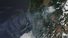 California, Oregon Fires Seen From Space