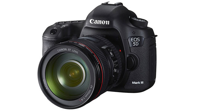 PHOTO: Canon's EOS 5D is the company's new high-end DSLR.