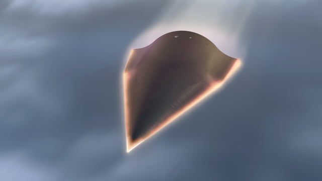 PHOTO: Falcon HTV-2 is an unmanned, rocket-launched, maneuverable aircraft that glides through the Earth?s atmosphere at incredibly fast speeds?Mach 20 (approximately 13,000 miles per hour).