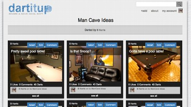 PHOTO: Dartitup, a Pinterest alternative for men.