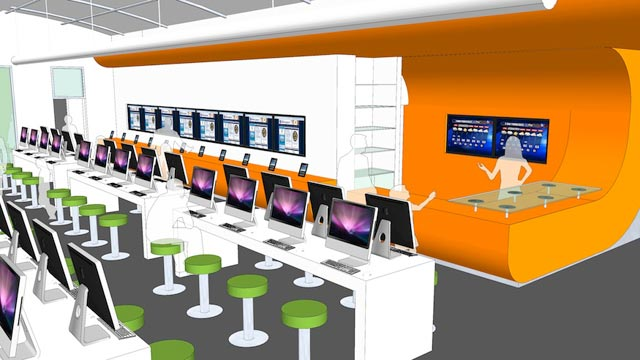 PHOTO: Conceptual renderings of Bexar Countys digital-only BiblioTech library.