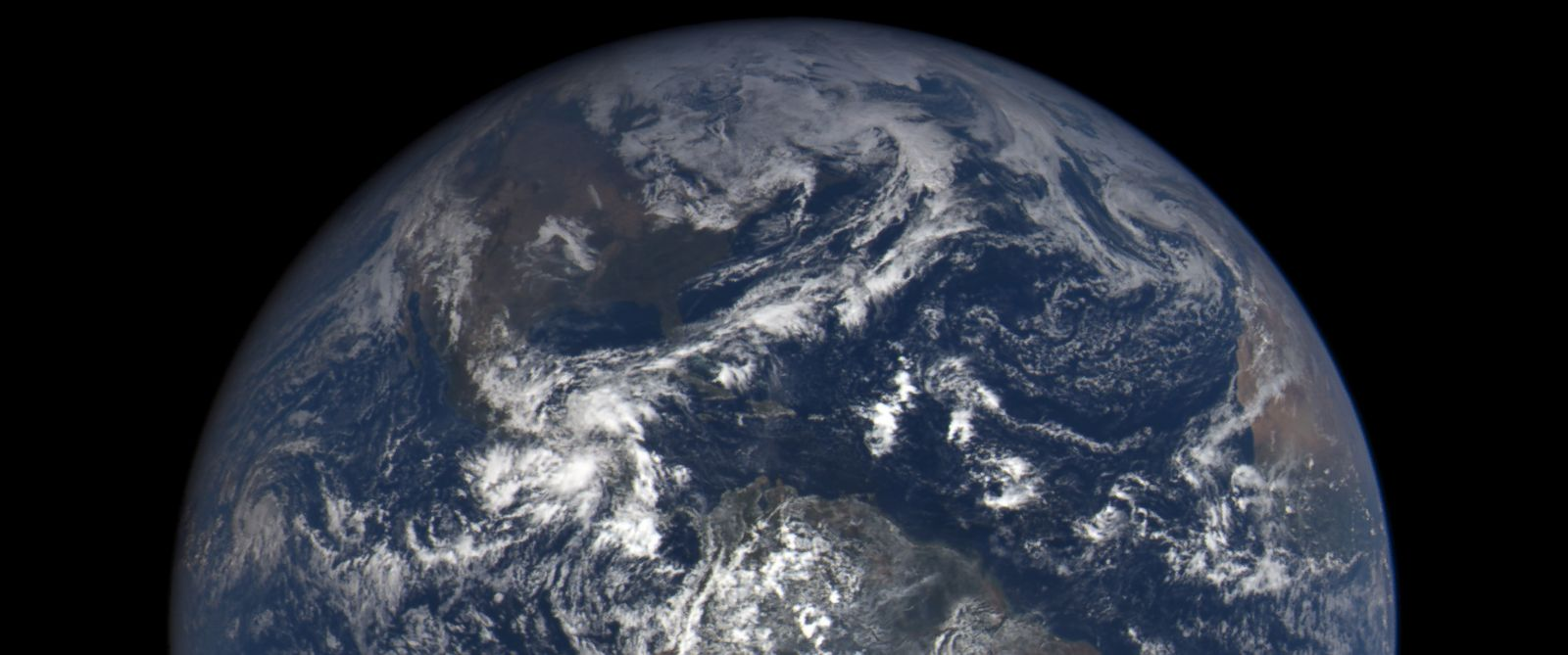 PHOTO: A NASA photo taken by the Deep Space Climate Observatory shows the Western Hemisphere of Earth on Oct. 17, 2015.