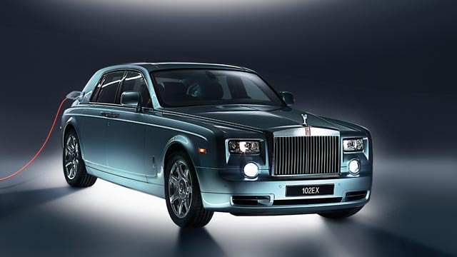 PHOTO: The Rolls-Royce 102EX Phantom Experimental Electric car.