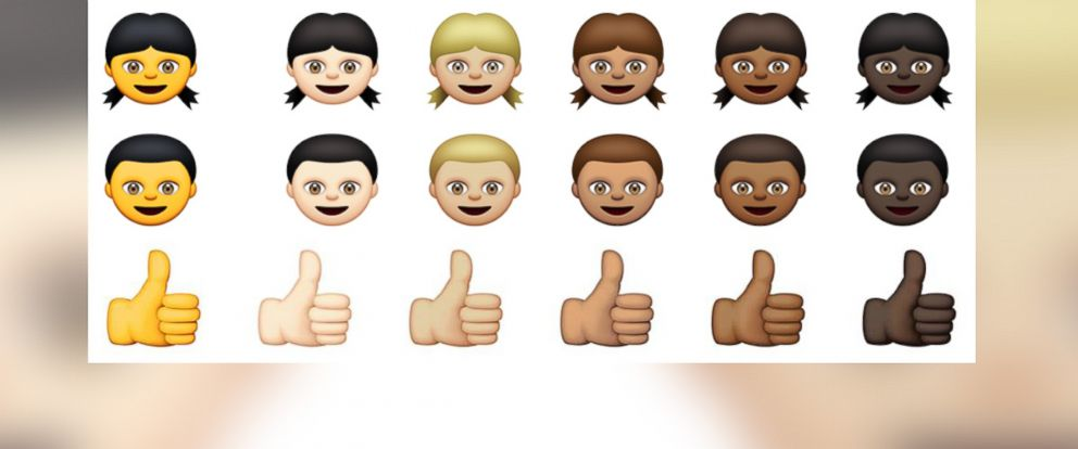 PHOTO: A set of Apples new Emojis are pictured in this image.