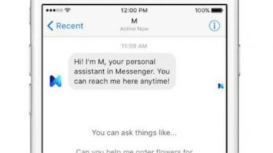 PHOTO: Facebooks virtual personal assistant M.