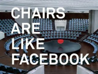 Facebook Ad Celebrates People, Chairs
