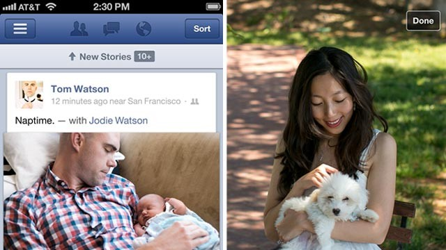PHOTO: Facebook 5.0 for iOS brings speed enhancements and a slightly new design.