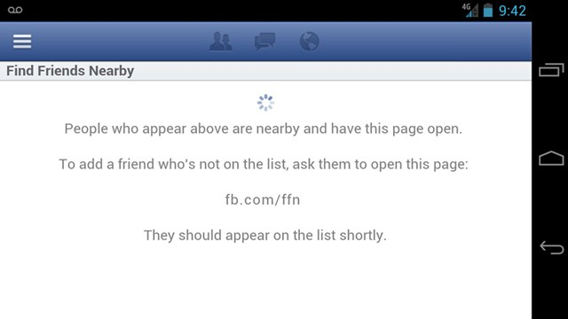 PHOTO: Facebook's Friends Nearby