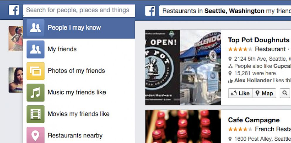 PHOTO: Facebook Graph Search