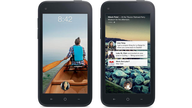 PHOTO: Facebooks Home software on HTCs First phone.