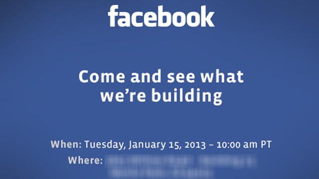 PHOTO: Facebooks Jan. 15 press event invite